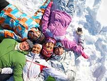 Kleding voor skiërs en snowboarders