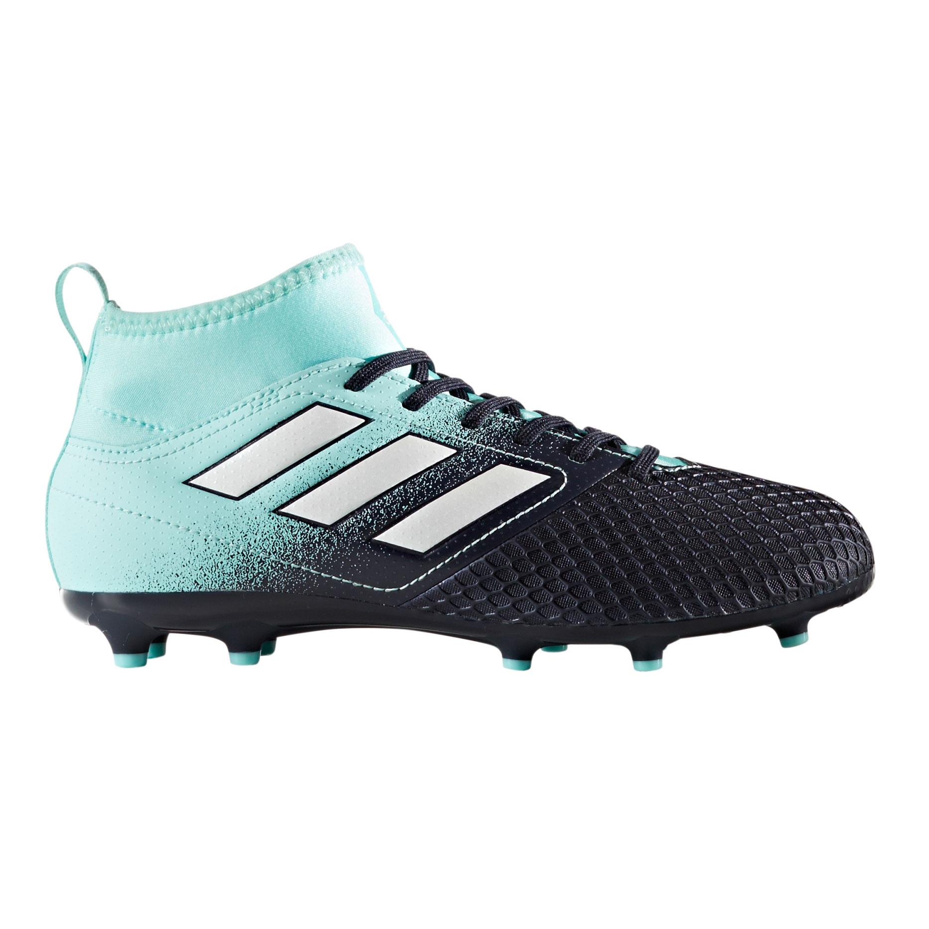 Afbeelding van Adidas Ace 17.3 FG S77068 Voetbalschoenen Junior Energy Aqua Footwear White Legend Ink