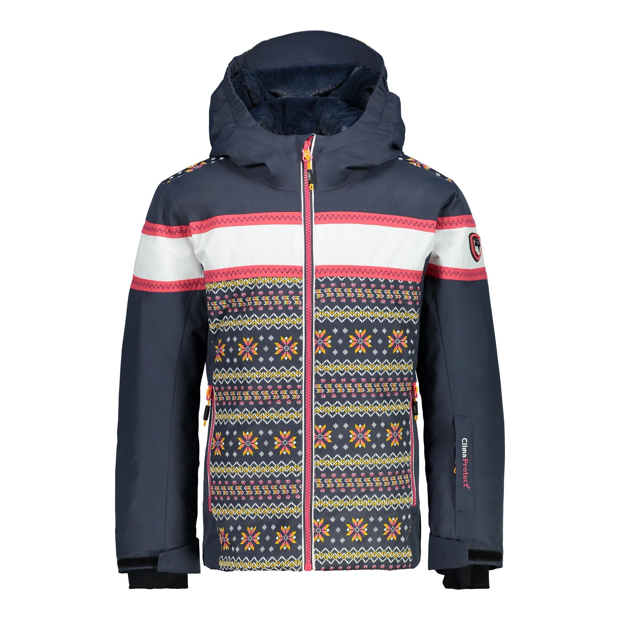Afbeelding van CMP Girl Jacket Fix Hood 38W0425 Winterjas Junior Asphalt 128
