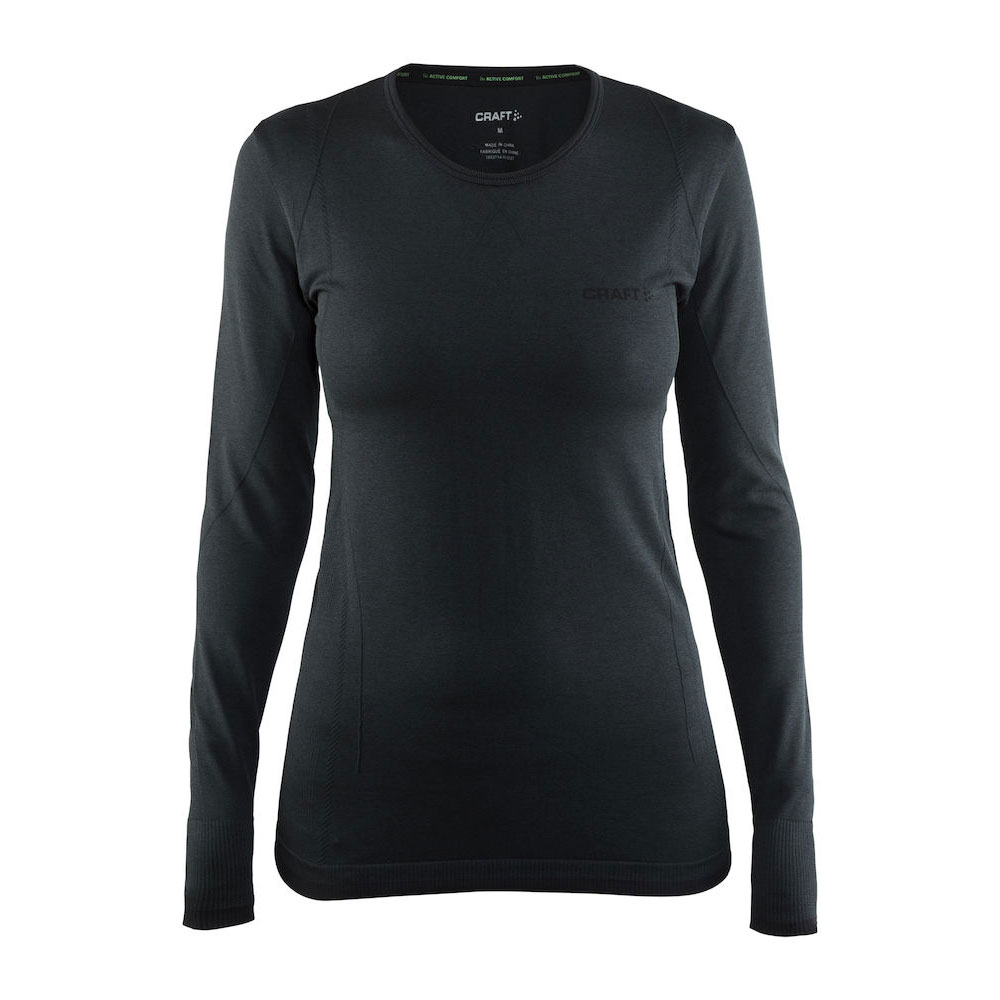 Afbeelding van Craft Active Comfort RN LS Thermoshirt Dames Black Solid