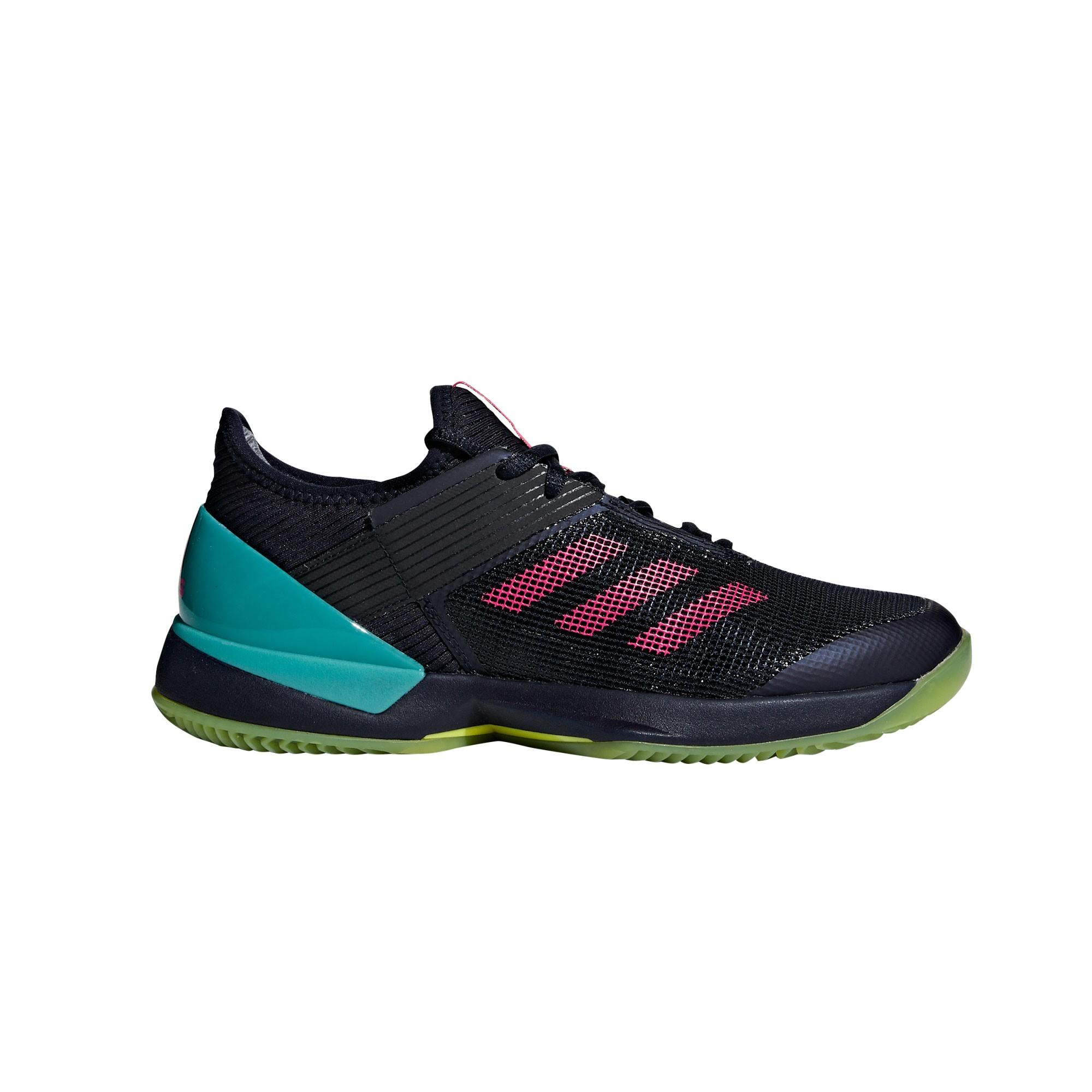 Afbeelding van Adidas Adizero Ubersonic 3.0 Clay AH2150 Tennisschoenen Dames Legend Ink Shock Pink