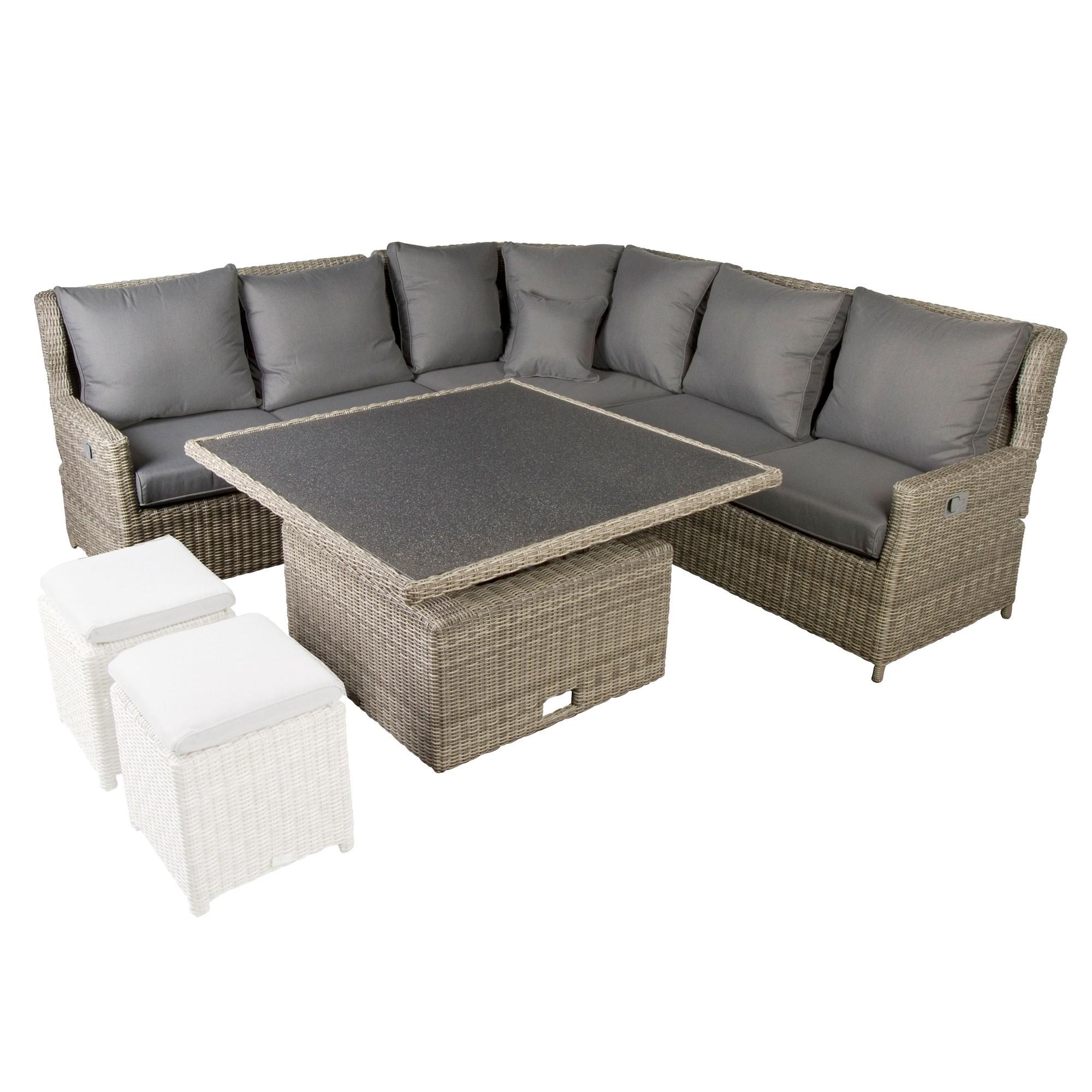 Afbeelding van Bardani Amarillo Relax Loungeset New White Grey