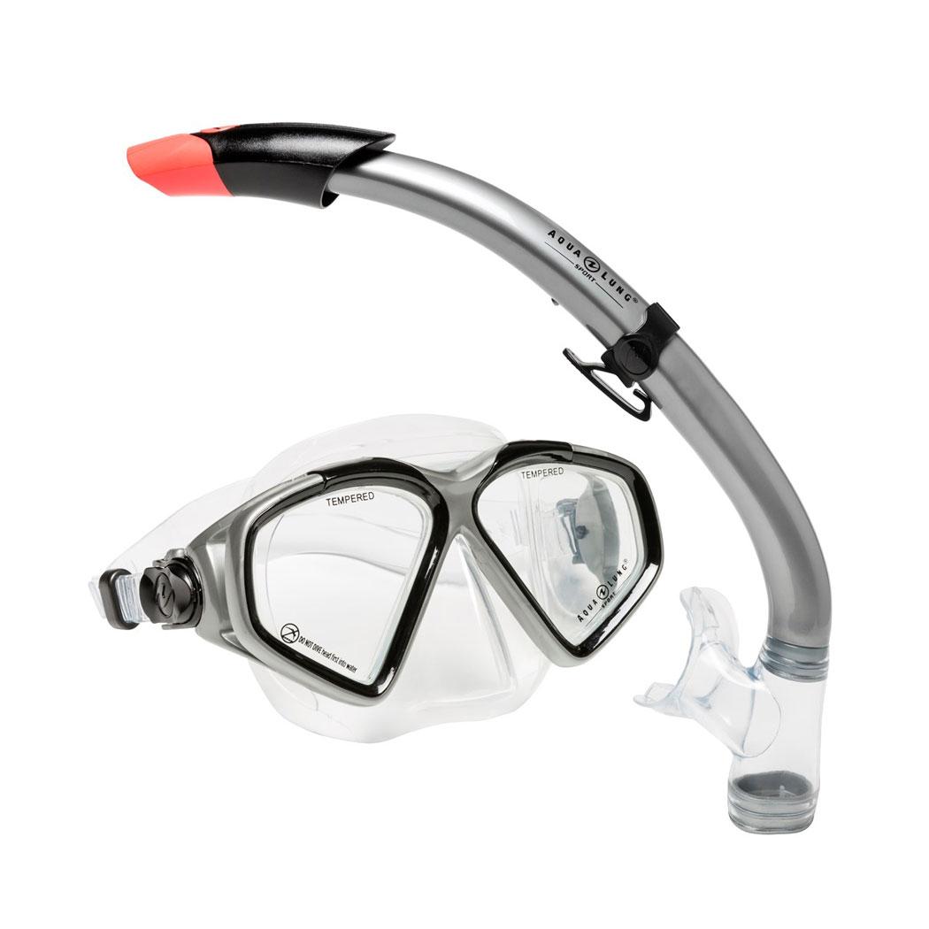 Afbeelding van Aqua Lung Sport Cozumel II + Seabreeze Snorkelset Zwart
