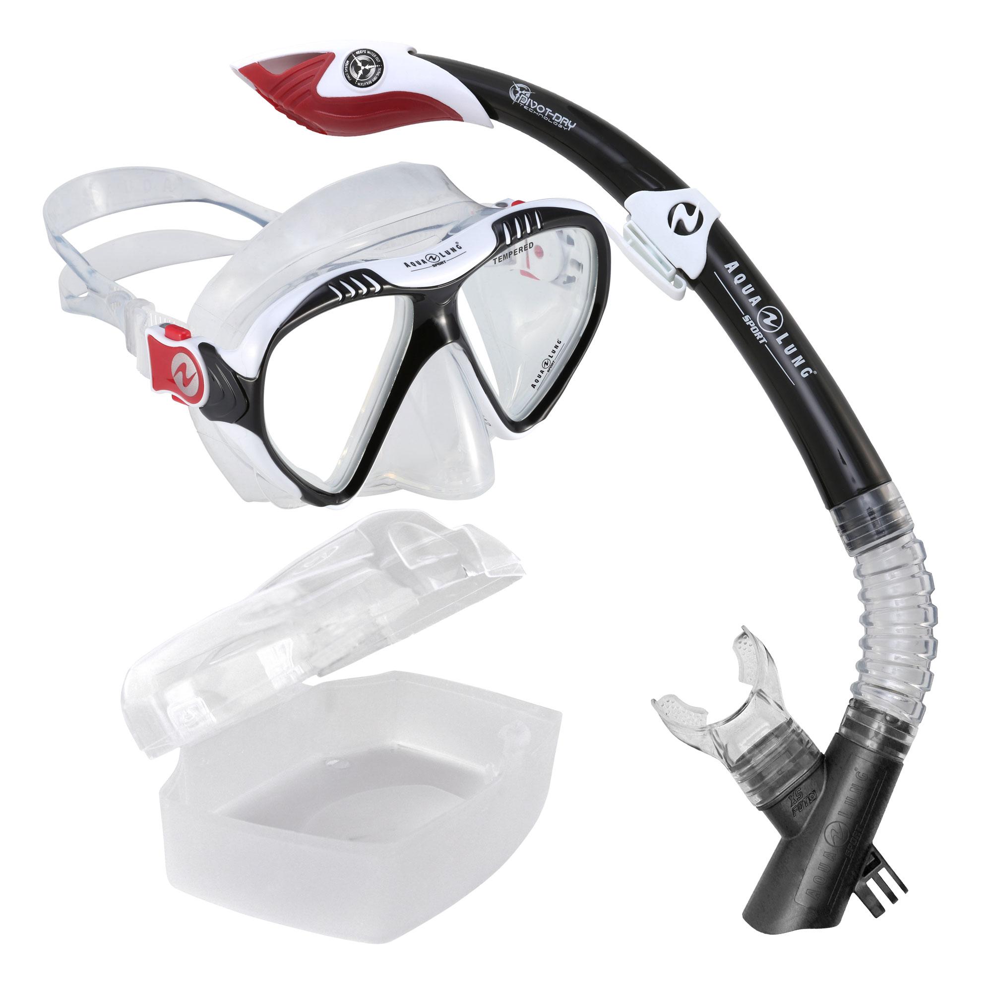Afbeelding van Aqua Lung Sport Magelan + Atlantis Go Pro Snorkelset Zwart