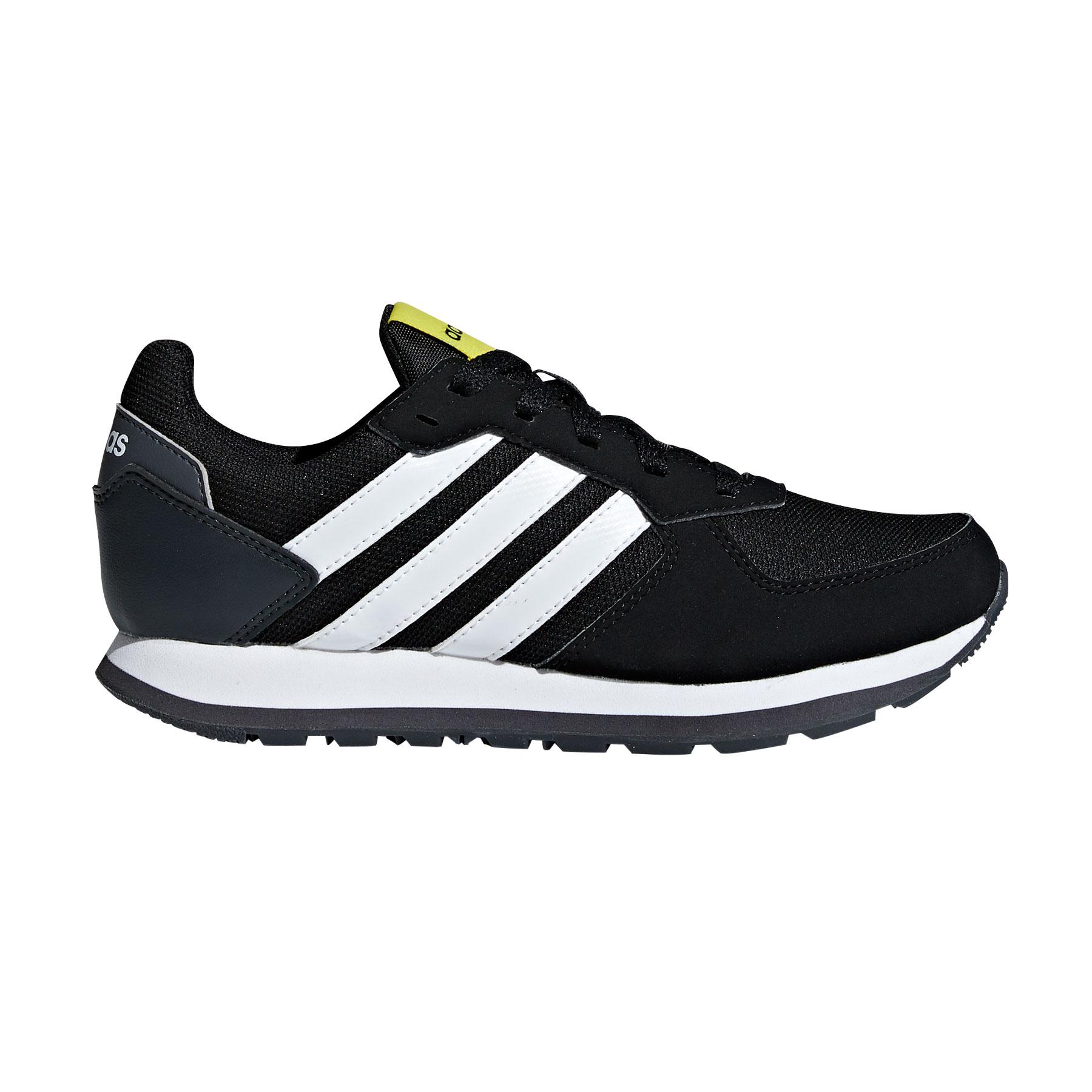 Afbeelding van Adidas 8K B75735 Vrijetijdsschoenen Junior Core Black Footwear White
