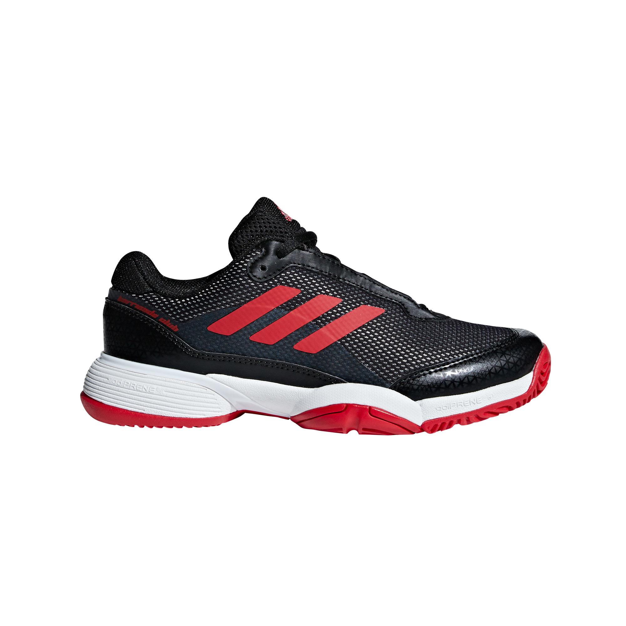 Afbeelding van Adidas Barricade Club BB7935 Tennisschoenen Junior Core Black Scarlet Footwear White