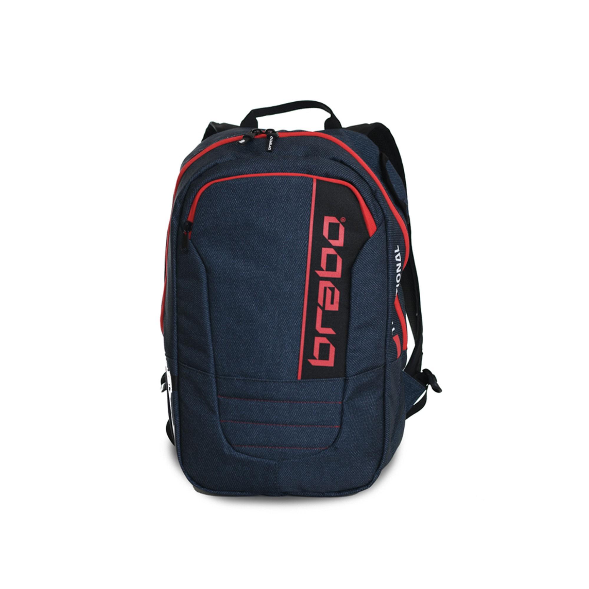 Afbeelding van Brabo Backpack Traditional Denim Hockeytas Junior Blue Red