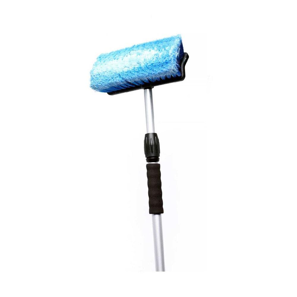 Afbeelding van btc blue line wasborstel telescoopsteel waterdoorlatend 170 cm