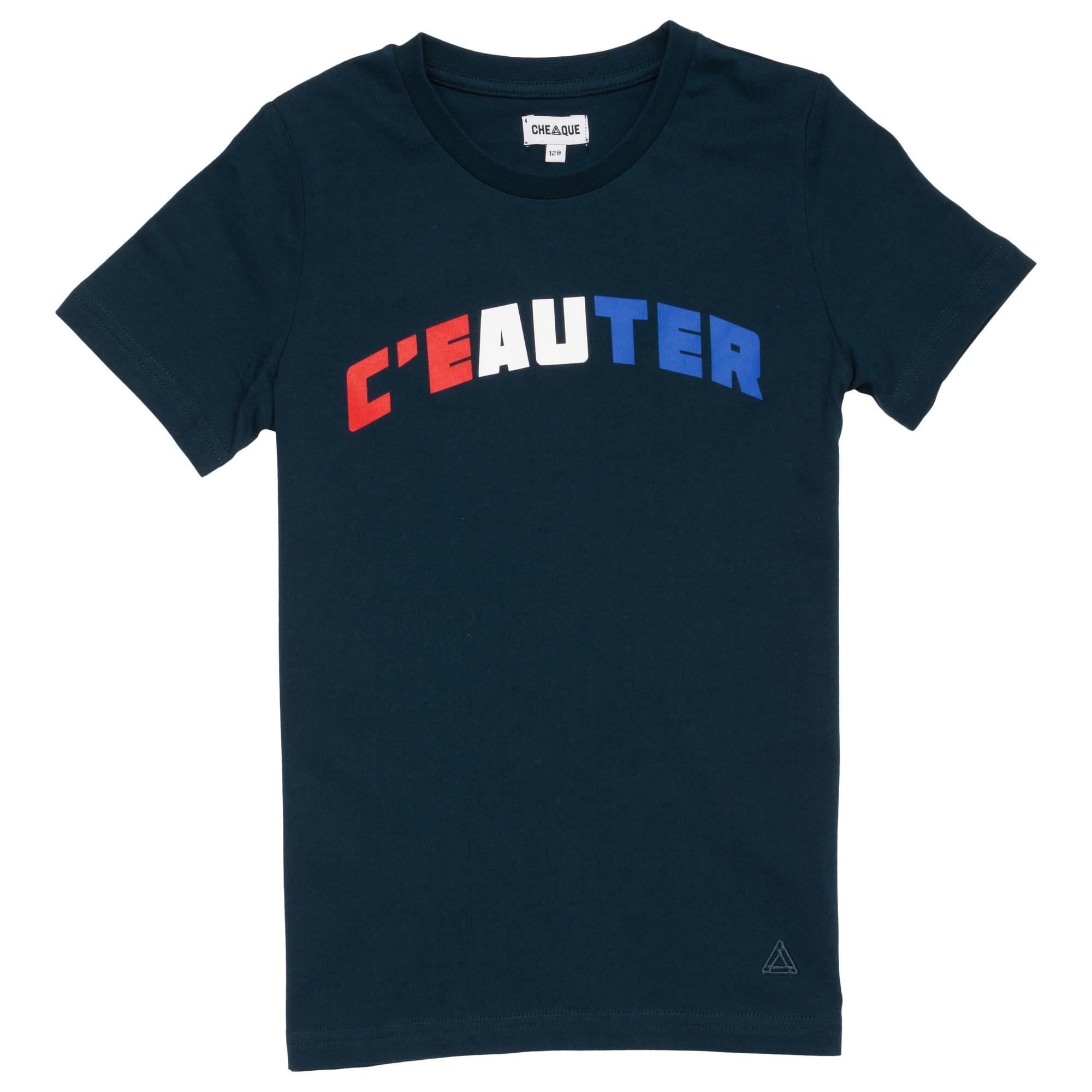 Afbeelding van Cheaque C'eauter Shirt Junior Navy 104