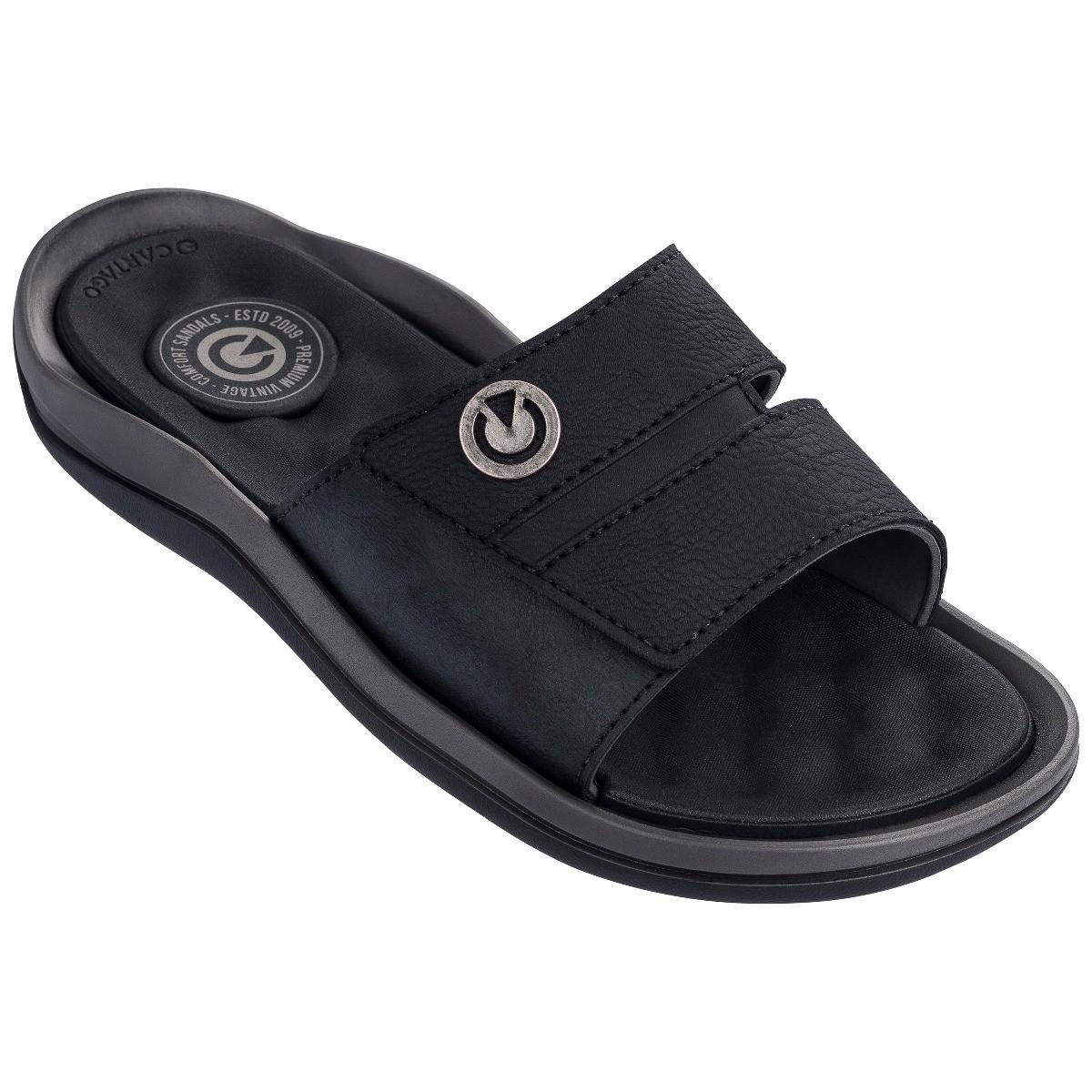 Afbeelding van Cartago Santorini Slide Slippers Heren Grey Black EU 42