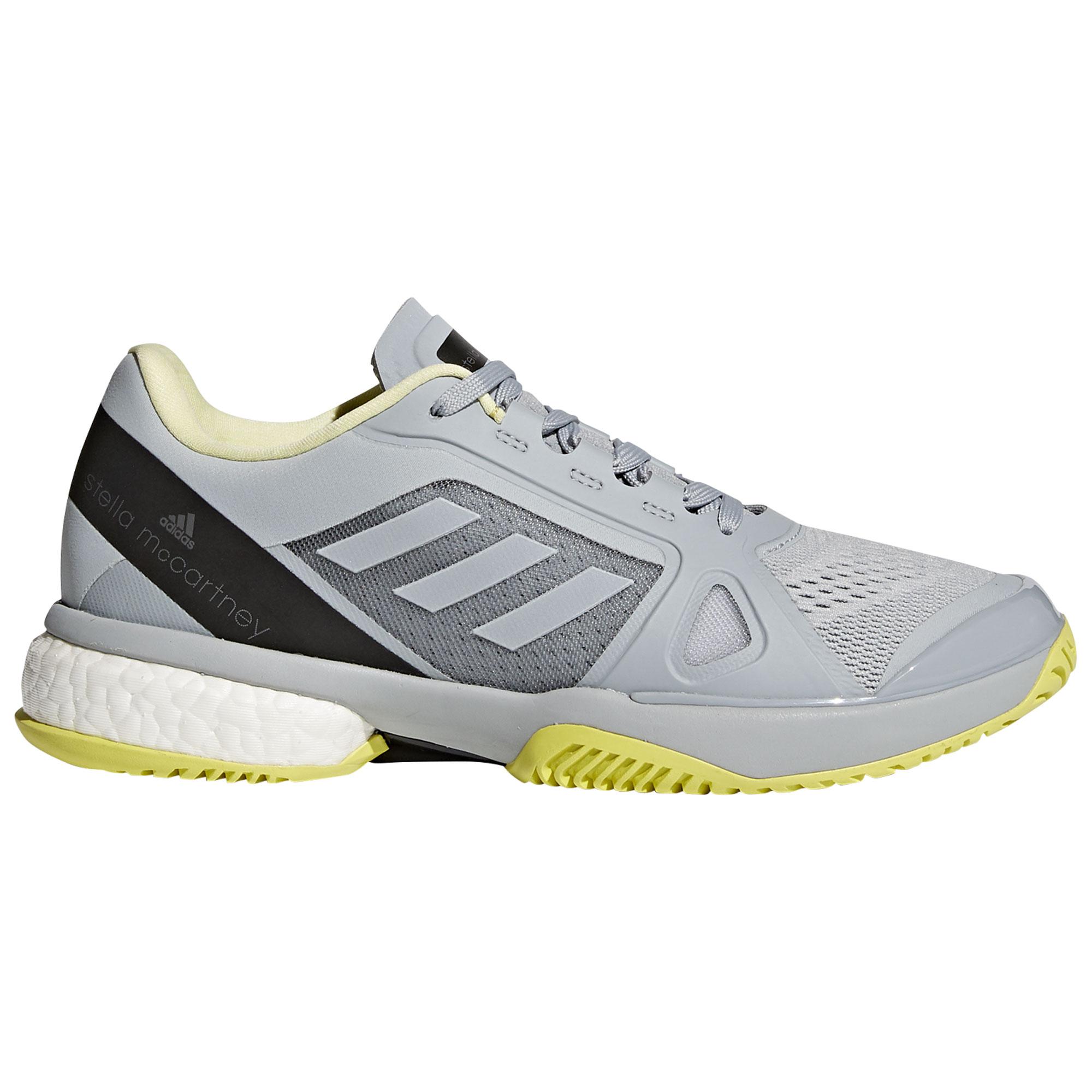 Afbeelding van Adidas Barricade Boost Stella McCartney CM7803 Tennisschoenen Dames Eggshell Grey Aero Lime