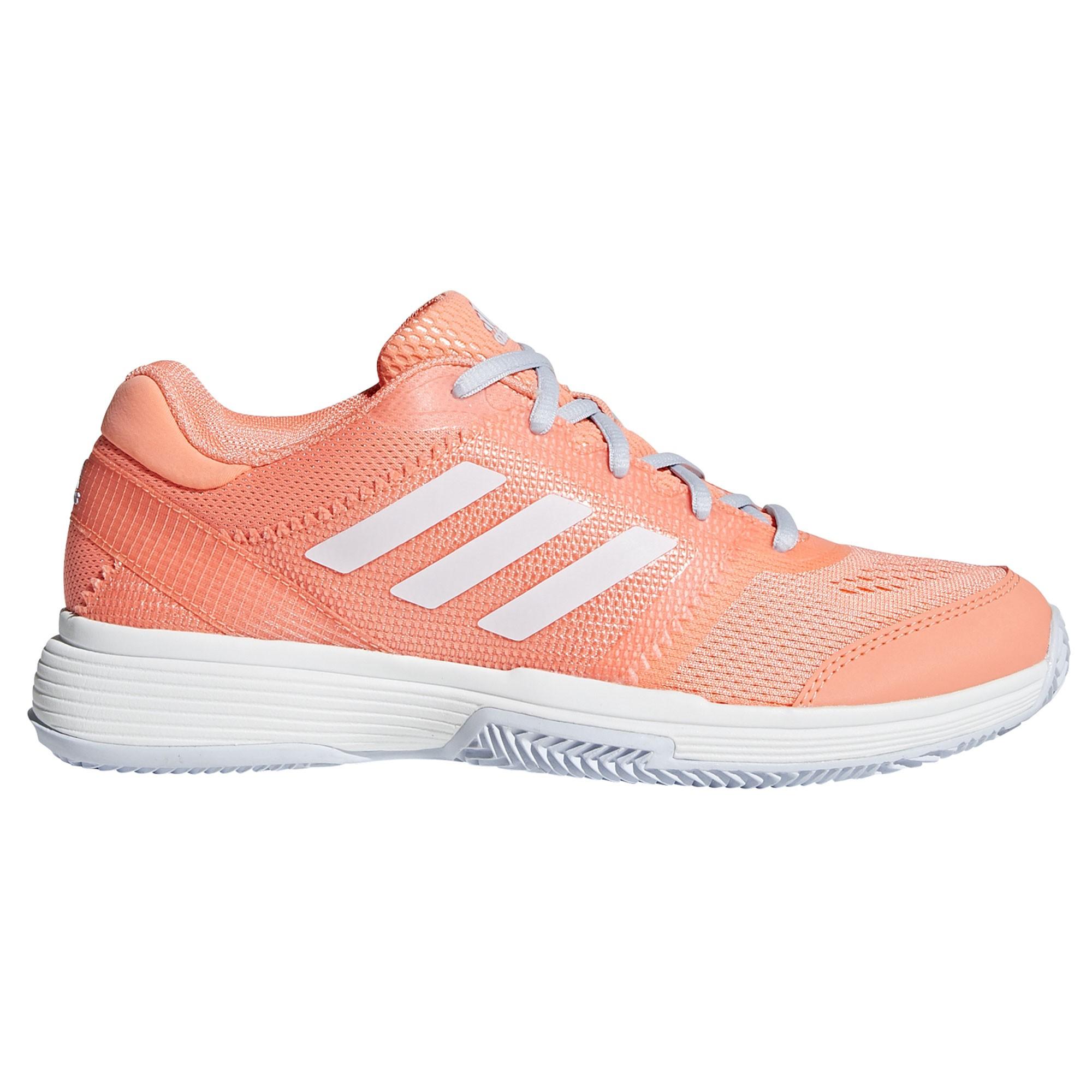 Afbeelding van Adidas Barricade Club Clay CM7812 Tennisschoenen Dames Chalk Coral Footwear White Aero Blue