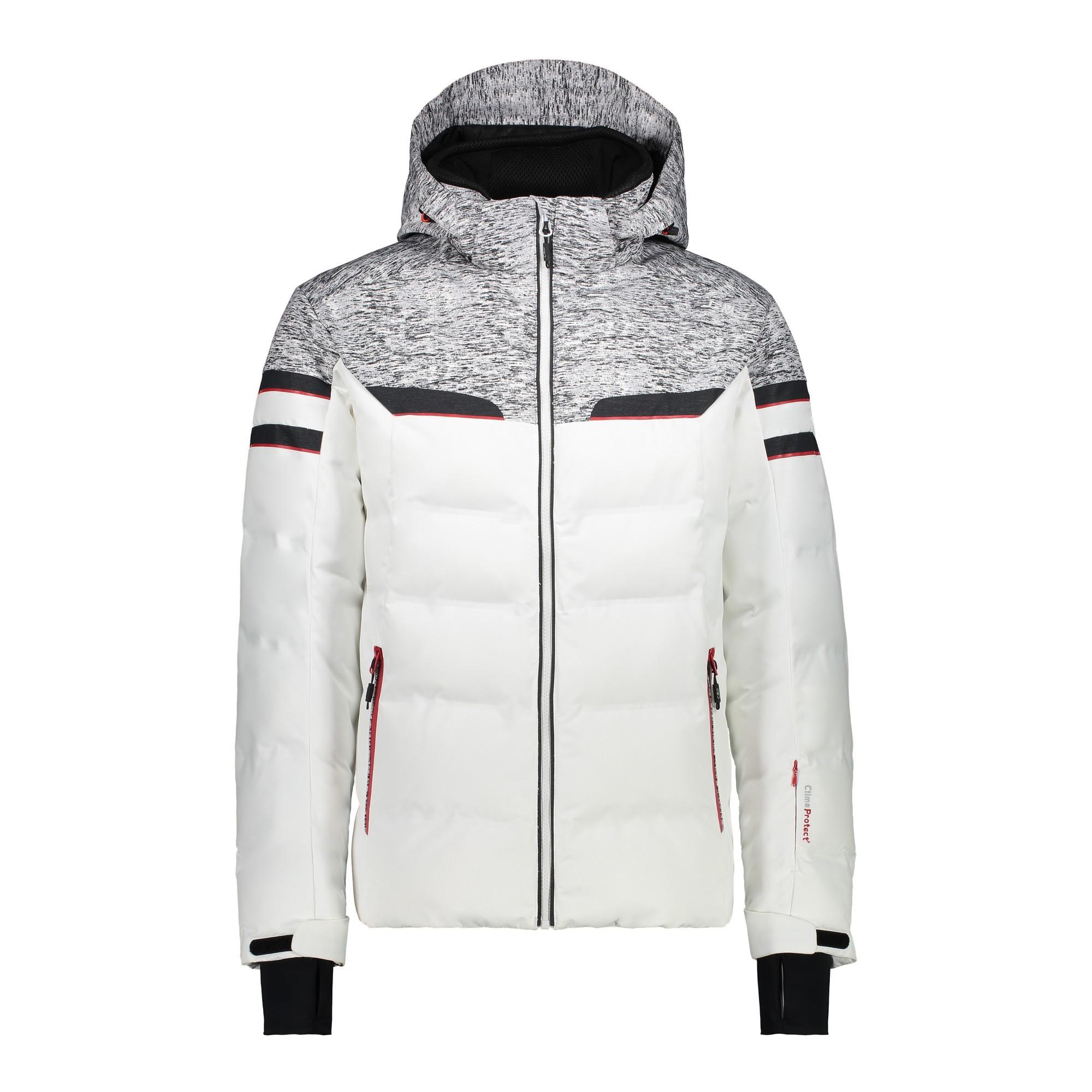 Afbeelding van CMP Man Jacket Zip Hood 38W0567 Winterjas Heren Bianco 50