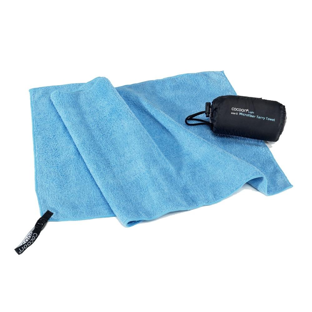 Afbeelding van Cocoon Microfiber Terry Towel Light Reishanddoek XL Lichtblauw