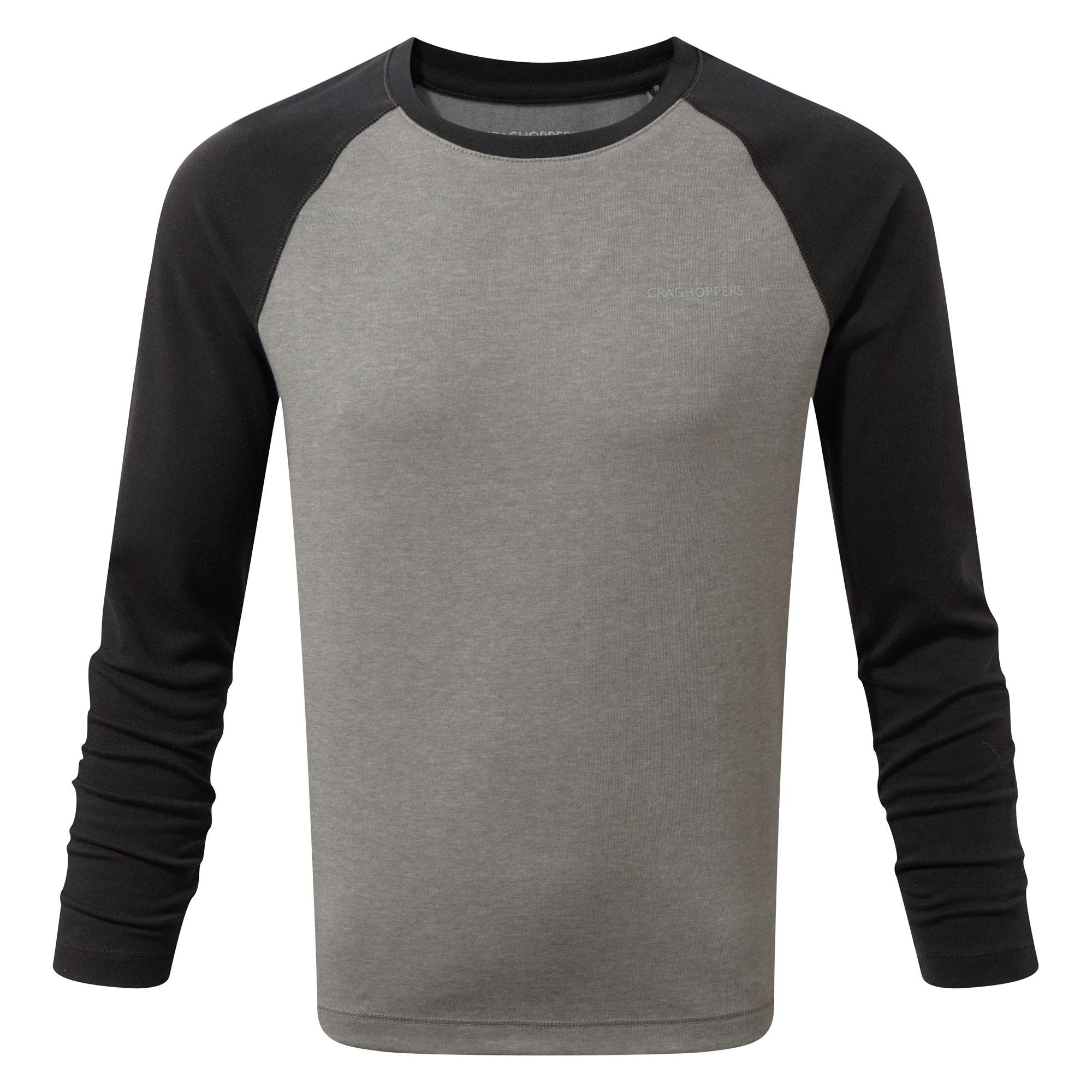 Afbeelding van Craghoppers NosiLife Barnaby Long Sleeved Shirt Junior Soft Grey Marl