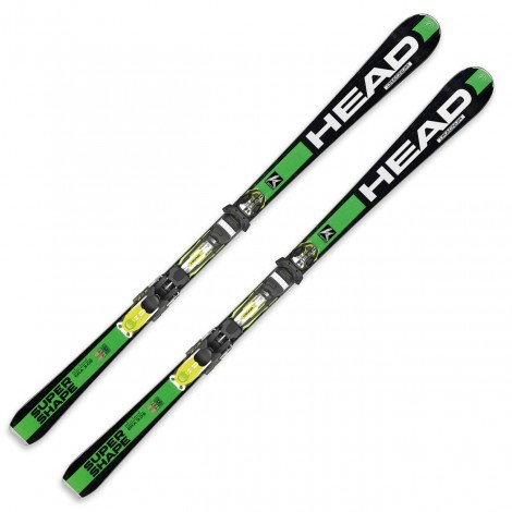 Head I Supershape Magnum ski's green black