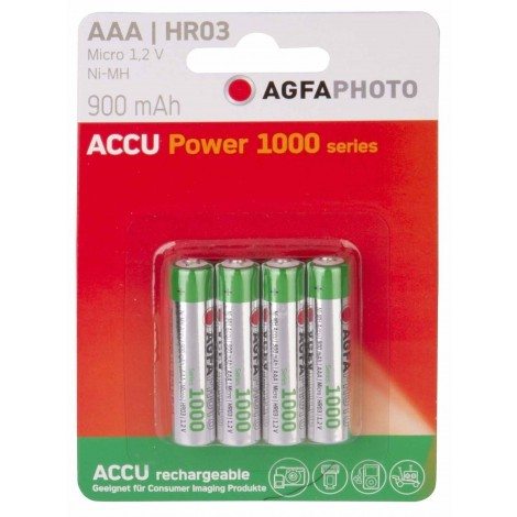 Accu Power 900 mAh AAA HR03 batterijen