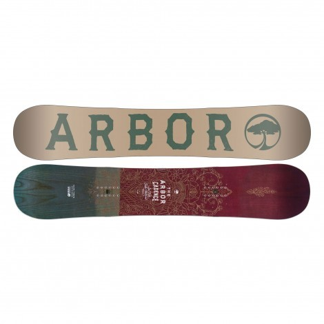 Arbor Cadence snowboard dames rood blauw