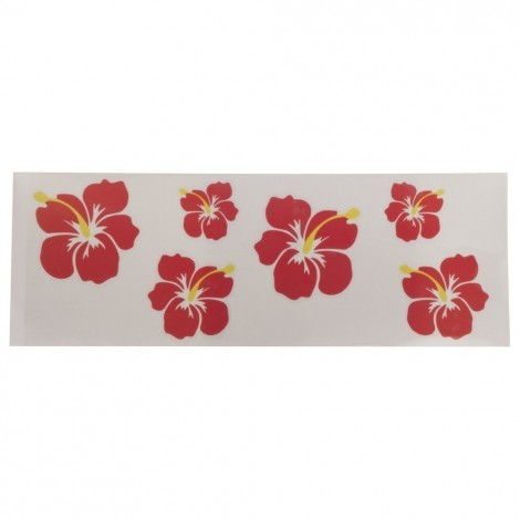 Hibiscus auto sticker