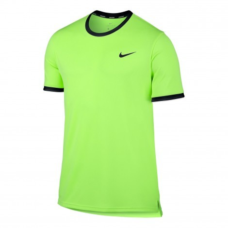 Nike Court Dry tennisshirt heren ghost green