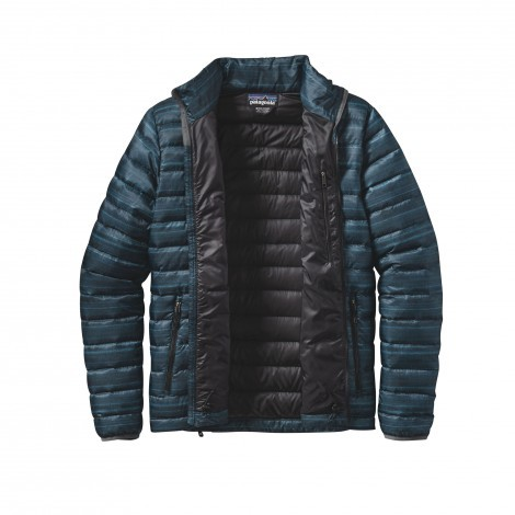 Patagonia Down Sweater jack heren Forge grey open