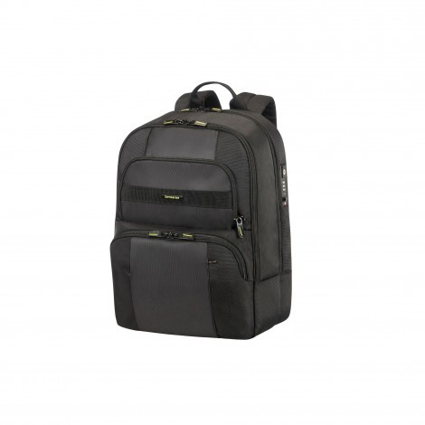 Samsonite Infinipak Security laptop rugzak zwart voorkant