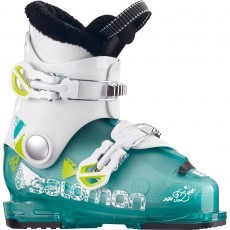 Salomon T2 girly skischoenen junior green white acide