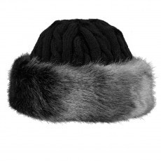 Barts Fur Cable Bandhat muts grey