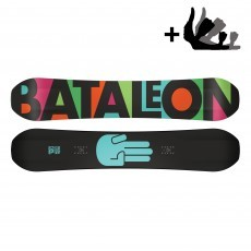 Bataleon Fun Kink Wide snowboard incl. Switchback binding black