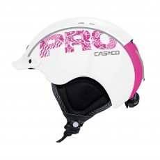 Casco Mini Pro skihelm junior white pink