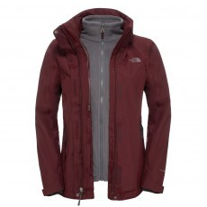 The North Face Evolution II Triclimate outdoor jack dames deep garnet red