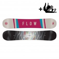 Flow Silhouette snowboard dames black pink