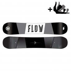 Flow Viper snowboard black white incl. Alpha binding