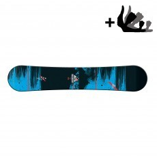 Morrow Mountain Wide snowboard black blue incl. Axiom binding