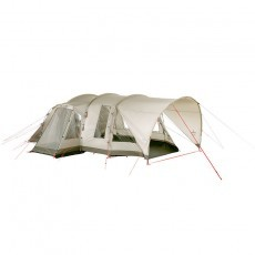 Nomad Cabin 4 incl. Porch tunneltent beige showmodel