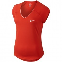 Nike Court Pure tennisshirt dames red