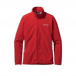 Patagonia Adze Hybrid softshell outdoor jack dames French red