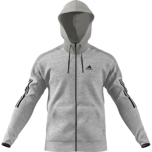 adidas Sport ID Fleece hoodie heren medium grey heather