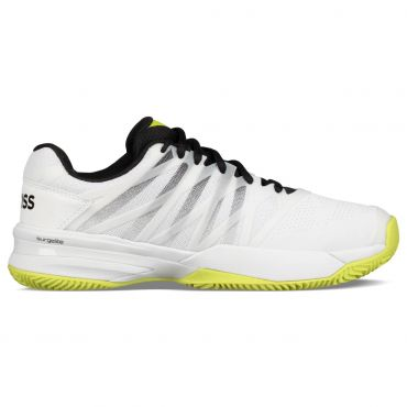 k-swiss ultrashot 2 hb 06169 tennisschoenen heren white black neon
