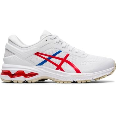 ASICS Gel Kayano 26 1012A654 hardloopschoenen dames white classic red