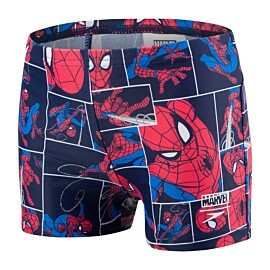 speedo marvel spider-man zwemboxer junior navy red