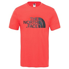 the north face easy tee outdoor shirt heren salsa red