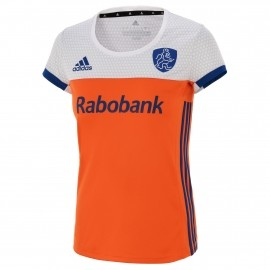 adidas knhb tee home hockey shirt dames oranje wit