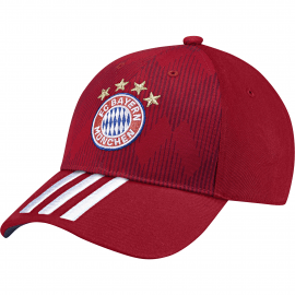 adidas fc bayern munchen 3-stripes pet junior fcb true red white collegiate navy