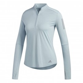 adidas own the run longsleeve hardloopshirt dames ash grey