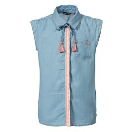 petrol denim blouse junior faded stone