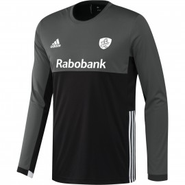 adidas knhb goalie hockey shirt heren grey black