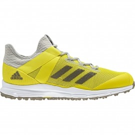 differently e85b9 b0772 adidas Zone Dox 1.9S hockeyschoenen heren ash silver ftwr white shock yellow