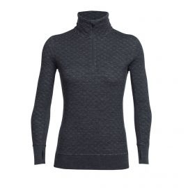Icebreaker Affinity Thermo Half Zip skipully dames jet heather