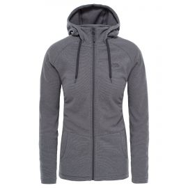 The North Face Mezzaluna fleece vest dames graphite grey stripe